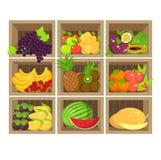 Stalle locale de fruit Boutique d'aliment biologique fraîche Photo libre de droits
