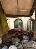 Stalle médiévale de textile Image stock