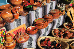 Stalle mexicaine de poterie Photo stock
