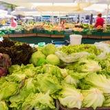 Stalle végétale du marché Image libre de droits