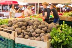 Stalle végétale du marché Photographie stock libre de droits
