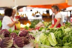 Stalle végétale du marché Photo libre de droits