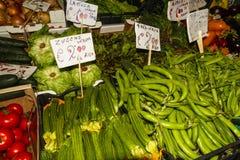 Stalle végétale italienne du marché Image stock