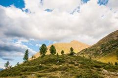 Staller Sattel - passagem de montanha entre Áustria e Italia imagens de stock