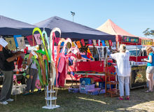 Stalles colorées du marché Image libre de droits