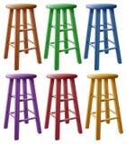 Stalles en bois colorées illustration stock