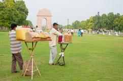 Stalles indiennes de casse-croûte Photographie stock libre de droits
