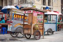 Stalles indonésiennes de nourriture Photographie stock libre de droits