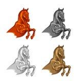 Stallion. Set on a white background Stock Photography