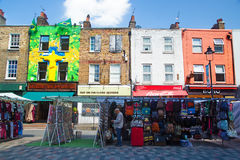 Stalls in Camden Town, London Royalty Free Stock Images