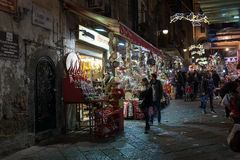 Stalls Christmas in Naples Stock Image