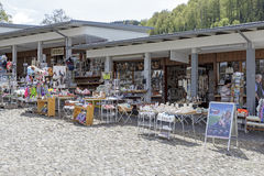 Stalls in Einsiedeln Royalty Free Stock Image
