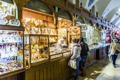 Stalls in the Kraków Cloth Hall Sukiennice Royalty Free Stock Photo