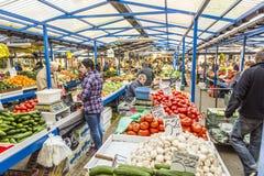 Stalls at the market Stary Kleparz in Krakow Stock Images