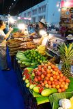 Stalls selling food. stock photo