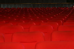 Stalls of theatre. Red stalls of an empty theatre Royalty Free Stock Image