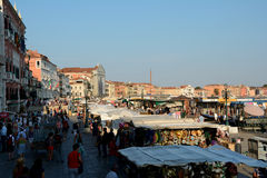 Stalls in Venice, Italy Royalty Free Stock Photos