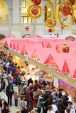 Stalls and visitors at sixth gastronomic festival Foodshow Christmas Stock Image