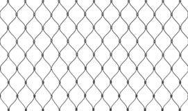 Stalowa łańcuszkowego połączenia ogrodzenia tła tekstura odizolowywająca Zdjęcia Stock