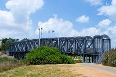 Stalowa budowa spod mosta Zdjęcie Royalty Free