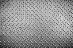 Stalowa checker talerza tekstura i uślizg , Abstrakcjonistyczny tło fotografia stock