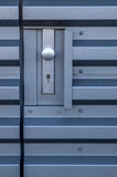 Stalowa drzwiowa gałeczka i kędziorek Obrazy Stock