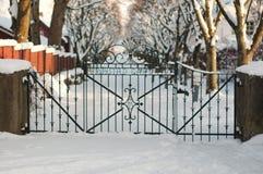 Stalowa furta wintergarden Zdjęcie Stock