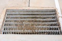 Stalowa grilla kanału ściekowego Manhole lub pokrywy pokrywa Obraz Royalty Free