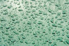 stalowa kropel wody powierzchniowe Obrazy Royalty Free
