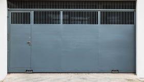 Stalowa ślizgowa brama Zdjęcie Royalty Free