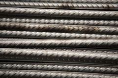 Stalowa metal armatura przy budynku miejscem Obraz Royalty Free