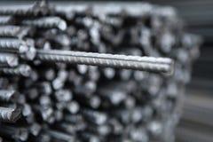 Stalowa metal armatura przy budynku miejscem Zdjęcie Stock