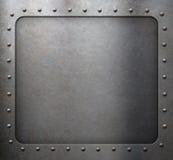 Stalowa metal rama z nitami Zdjęcie Stock