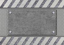 Stalowa rama z siatką, metalu wzór dla projekta, 3d, illustratio Obraz Royalty Free