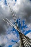 Stalowa rzeźba, dolina park, Aylesbury, Buckinghamshire Obrazy Stock