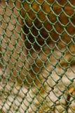 Stalowa siatka w ogrodzeniu jard przy chałupą Fotografia Royalty Free
