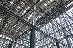 Stalowe budynek struktury które są silne i niewywrotne zdjęcie royalty free