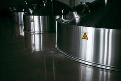 Stalowe fermentacj bednie zdjęcie stock