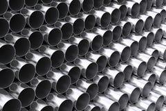 Stalowe stert tubki z odbiciami świadczenia 3 d ilustracja wektor
