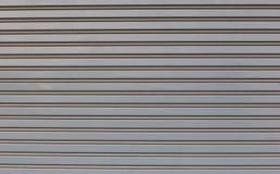 Stalowego kołysania się drzwi sklep lub sklep, frontowy widok Garażu drzwi dwa otwartej rękojeści i keyhole obraz stock