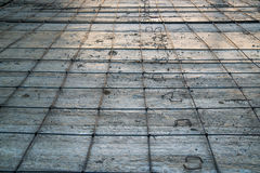 Stalowego krawata round betonowa baza Zdjęcie Royalty Free