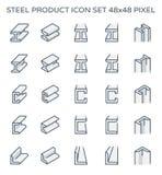 Stalowego produktu ikona Zdjęcia Stock