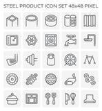 Stalowego produktu ikona Obrazy Stock