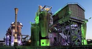 Stalowego przemysłu stara przemysłowa architektura Obrazy Stock