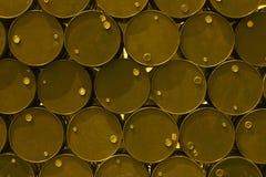 Stalowego zbiornika lub nafcianego paliwa toksyczna substancja chemiczna beczkuje Fotografia Royalty Free