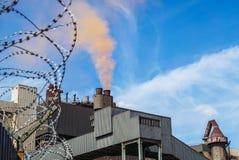 Stalowej rośliny inscenizowania czerwieni chmura Zdjęcie Stock