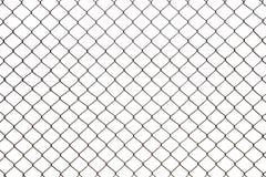 Stalowej siatki druciany ogrodzenie odizolowywający Obrazy Stock