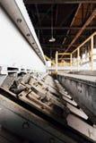 Stalowi drzwi Zaniechanego Indiana wojska Amunicyjna zajezdnia - Indiana - Porzucona elektrownia - zdjęcie royalty free