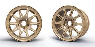 Stalowi dyski dla samochodu 3D ilustraci Zdjęcie Stock