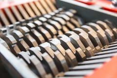Stalowi ostrza tnąca maszyna Obraz Stock